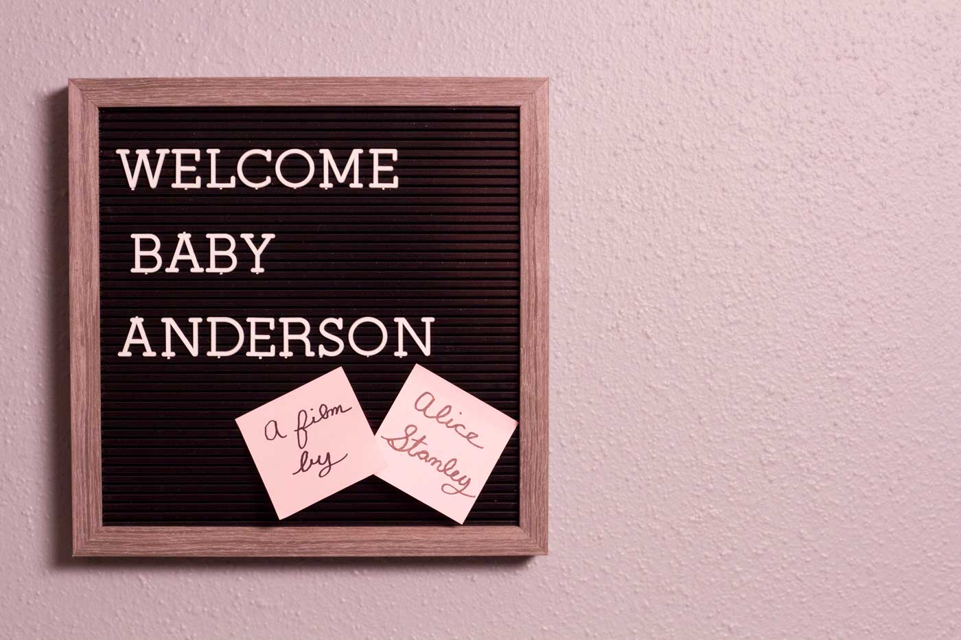 Welcome Baby Anderson - Transforming Cinema